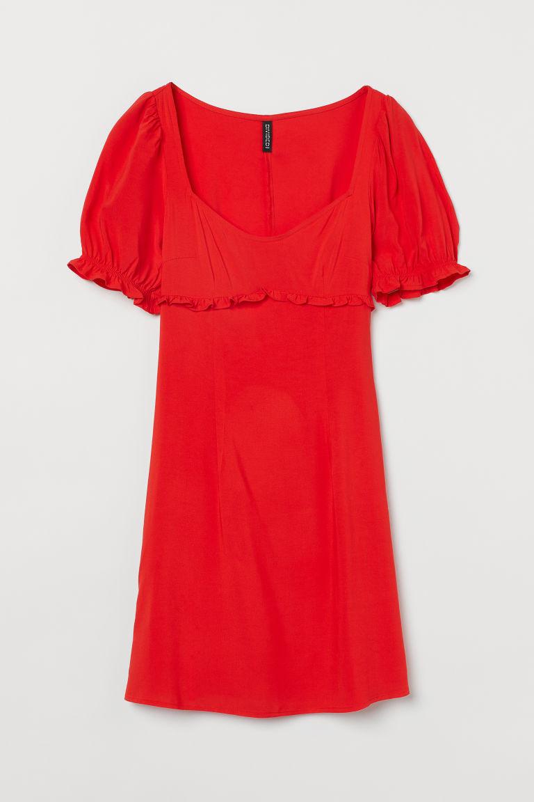 H & M - 公主袖洋裝 - 橙色