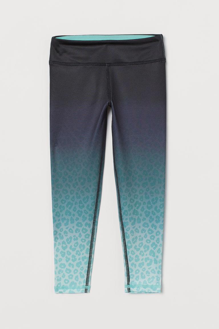 H & M - 緊身運動褲 - 藍綠色