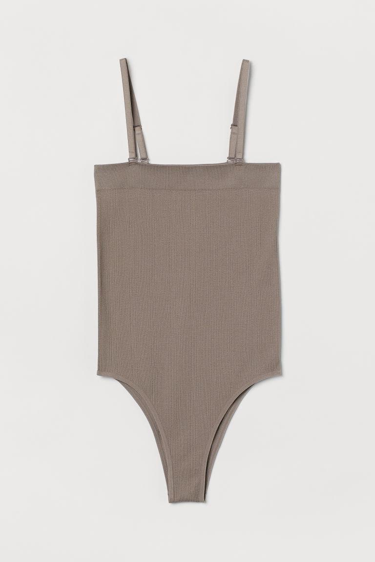 H & M - 無痕運動連身衣 - 褐色