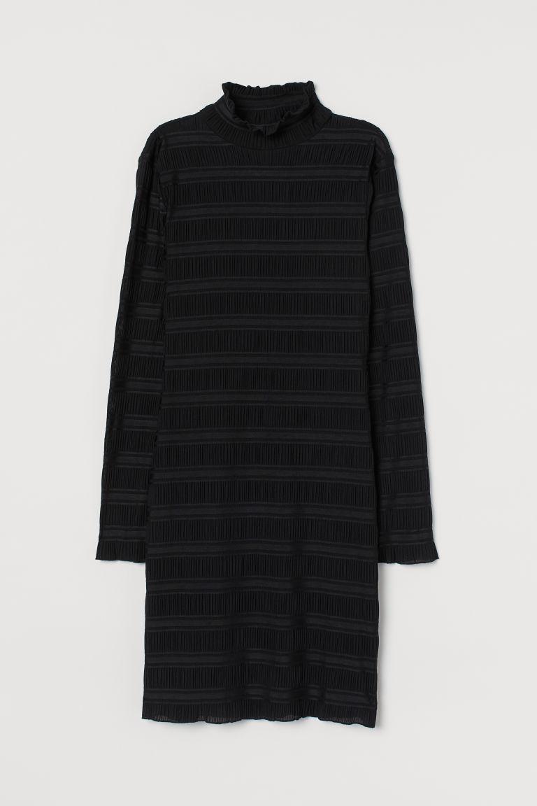 H & M - 高領洋裝 - 黑色