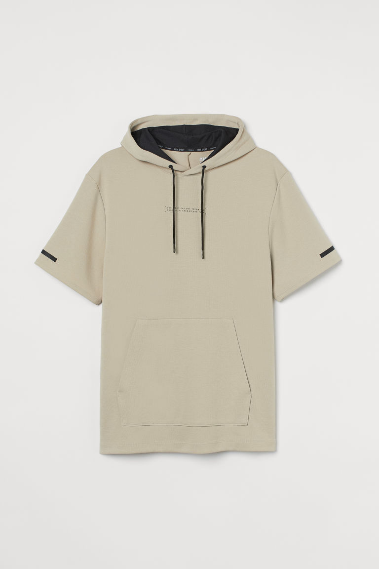 H & M - 標準剪裁運動上衣 - 米黃色