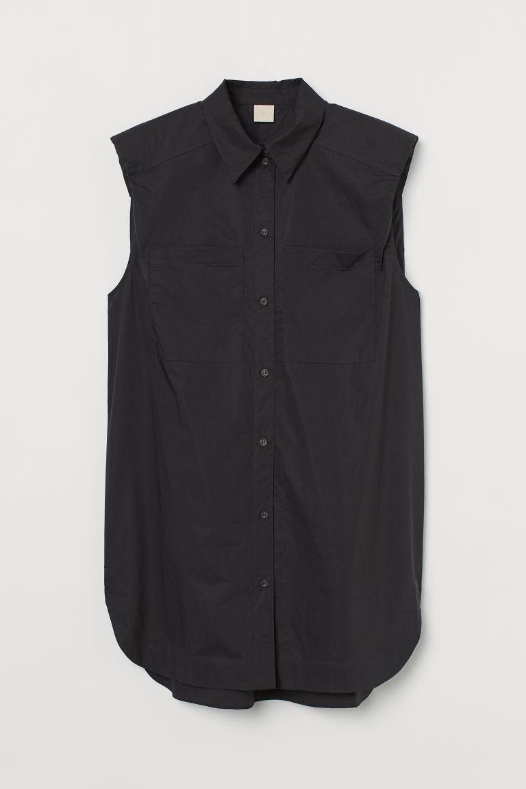 H & M - 加大碼女衫 - 黑色
