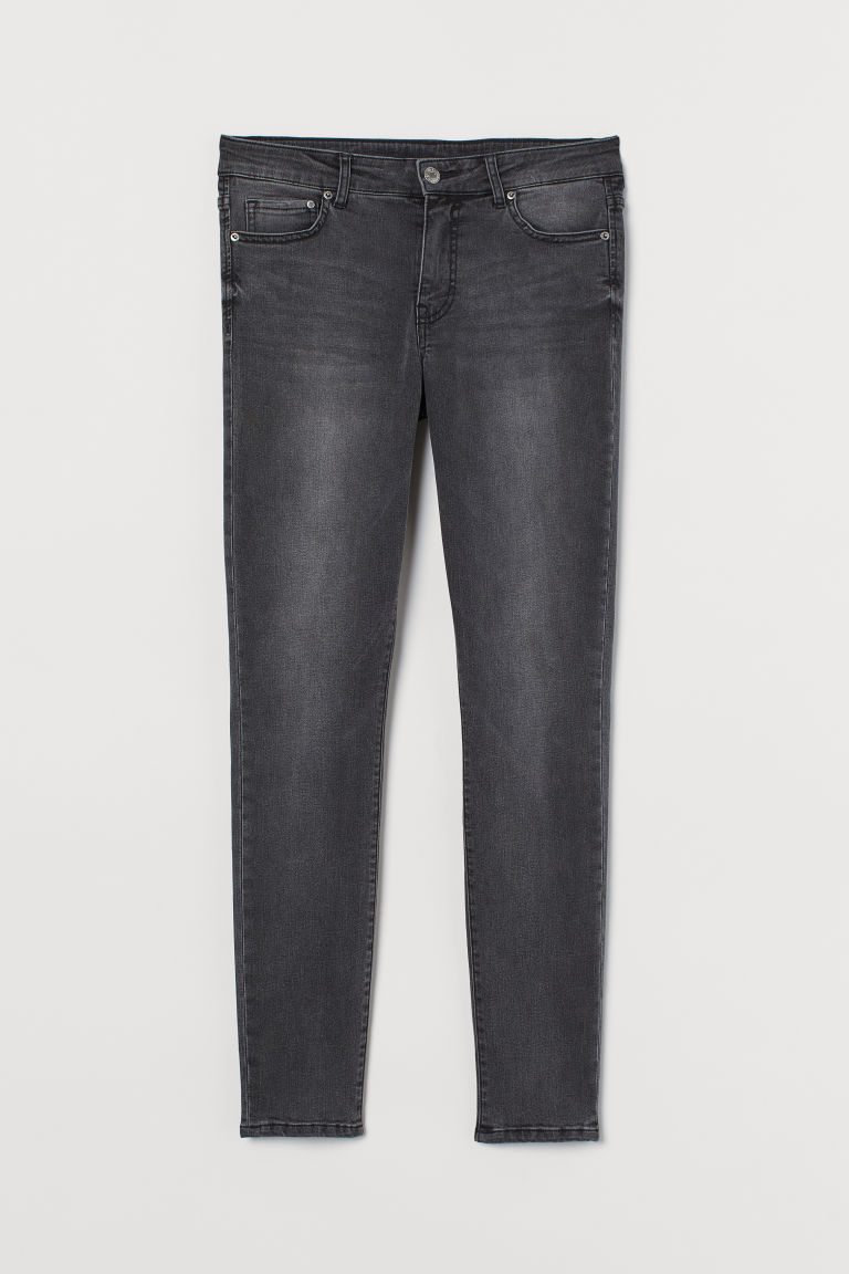 H & M - Thermolite® 保暖窄管牛仔褲 - 灰色