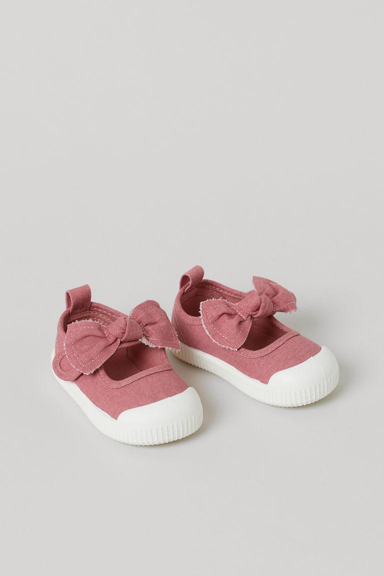H & M - 棉質帆布涼鞋 - 粉紅色