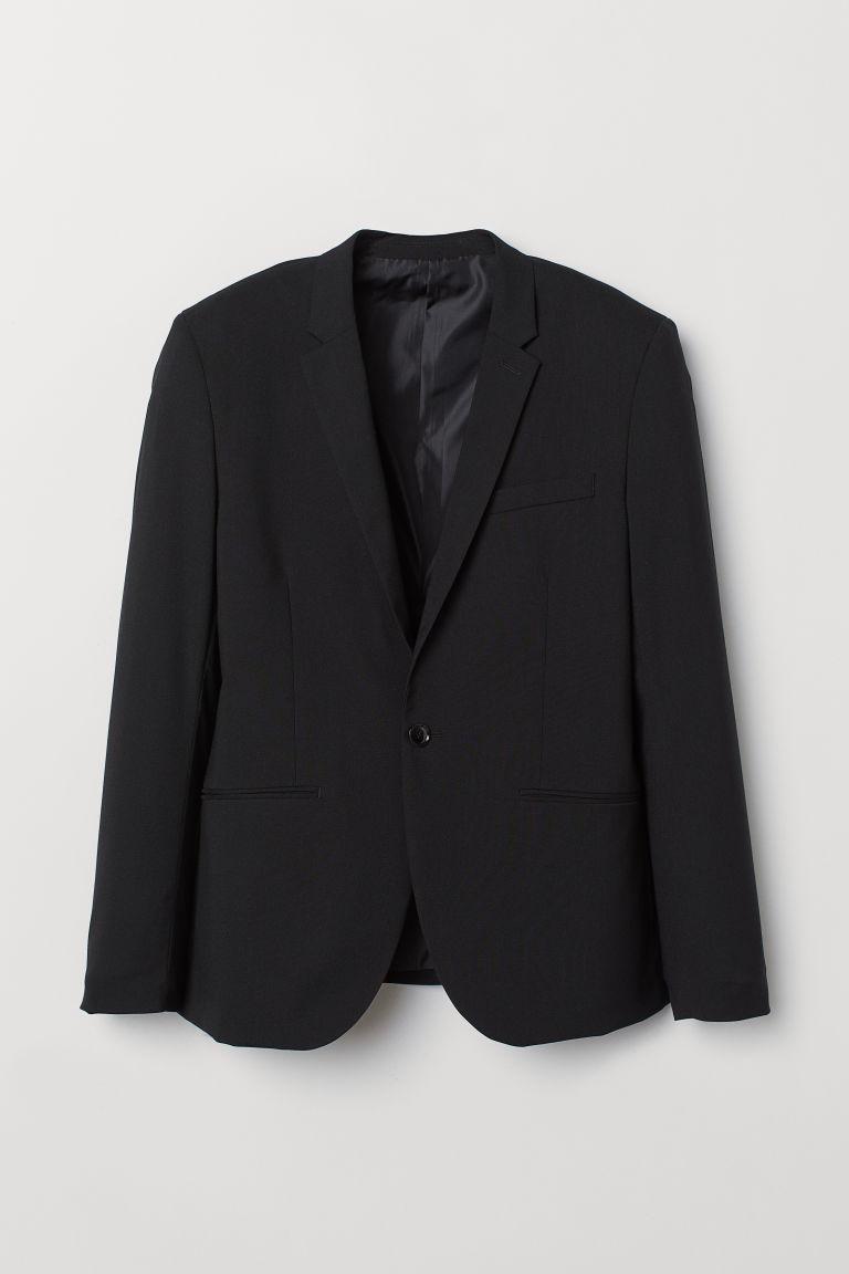 H & M - 修飾剪裁外套 - 黑色
