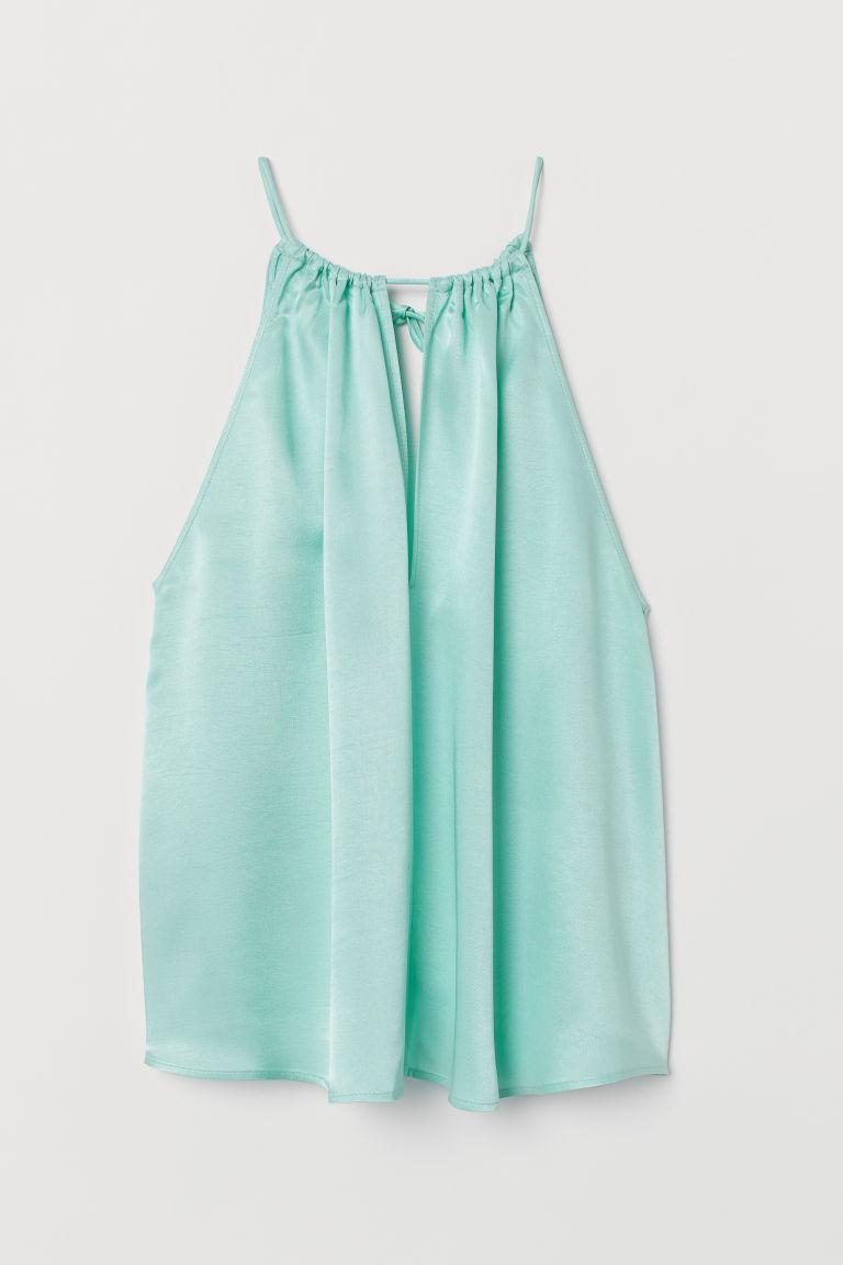 H & M - 無袖上衣 - 藍綠色
