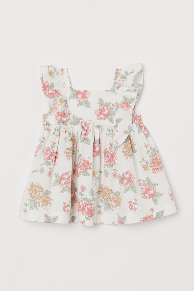 H & M - 棉質洋裝 - 白色