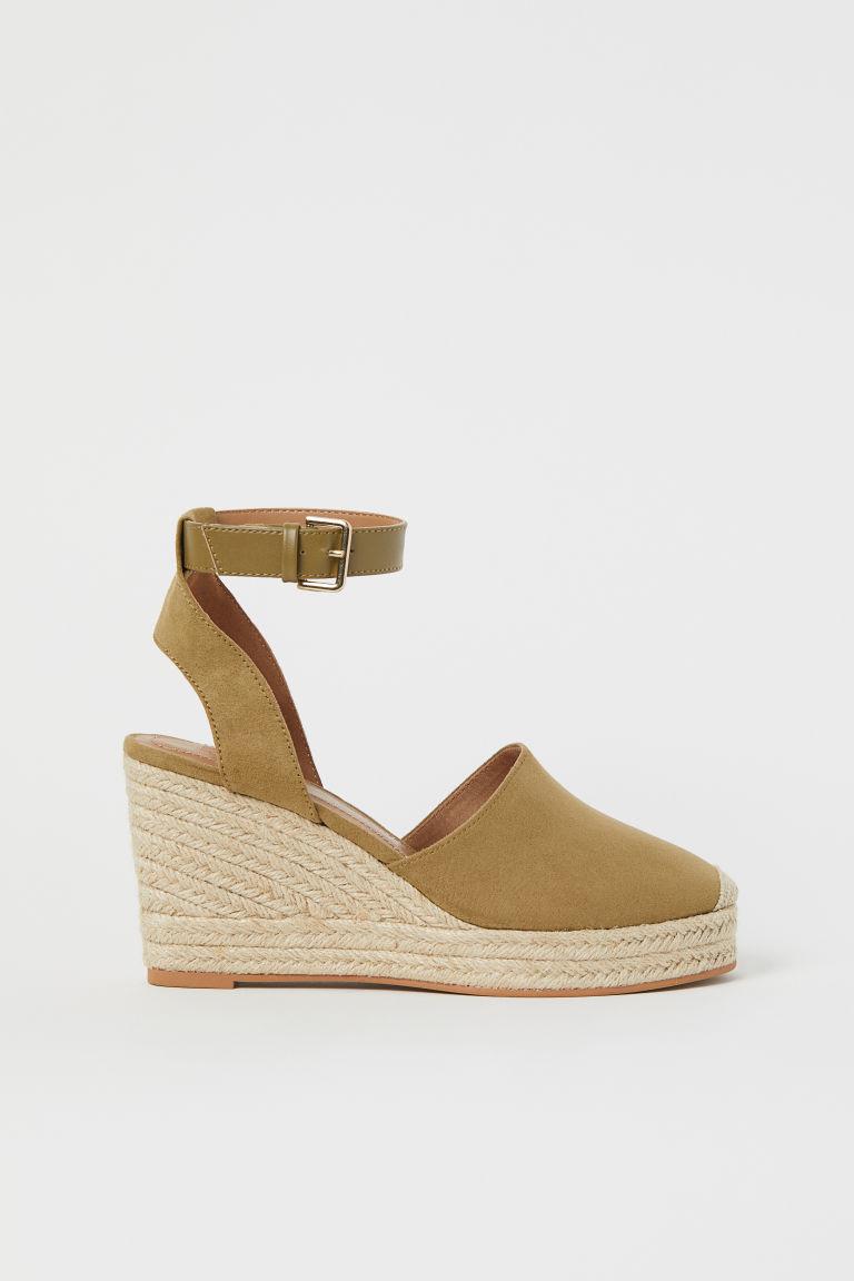 H & M - 楔型涼鞋 - 米黃色