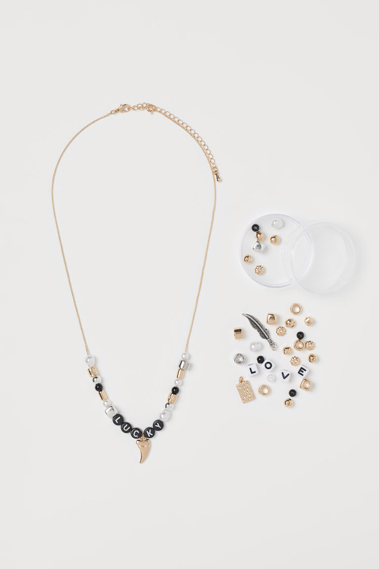 H & M - DIY項鍊 - 銀色