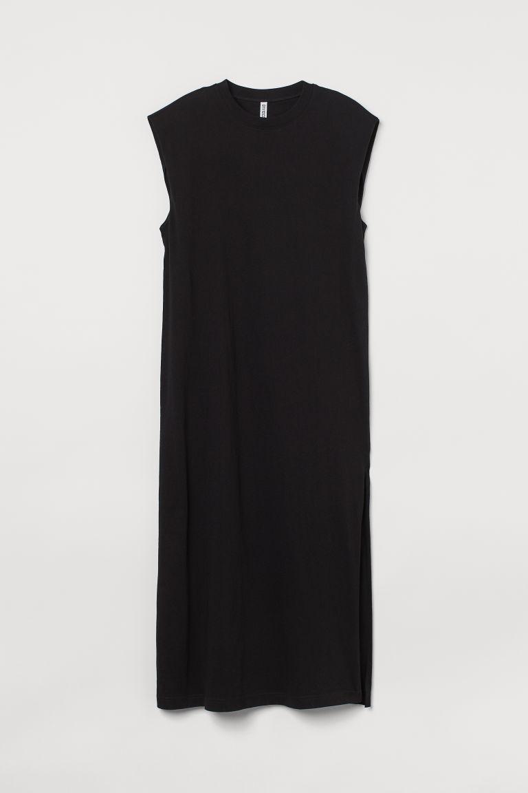H & M - 無袖棉質洋裝 - 黑色