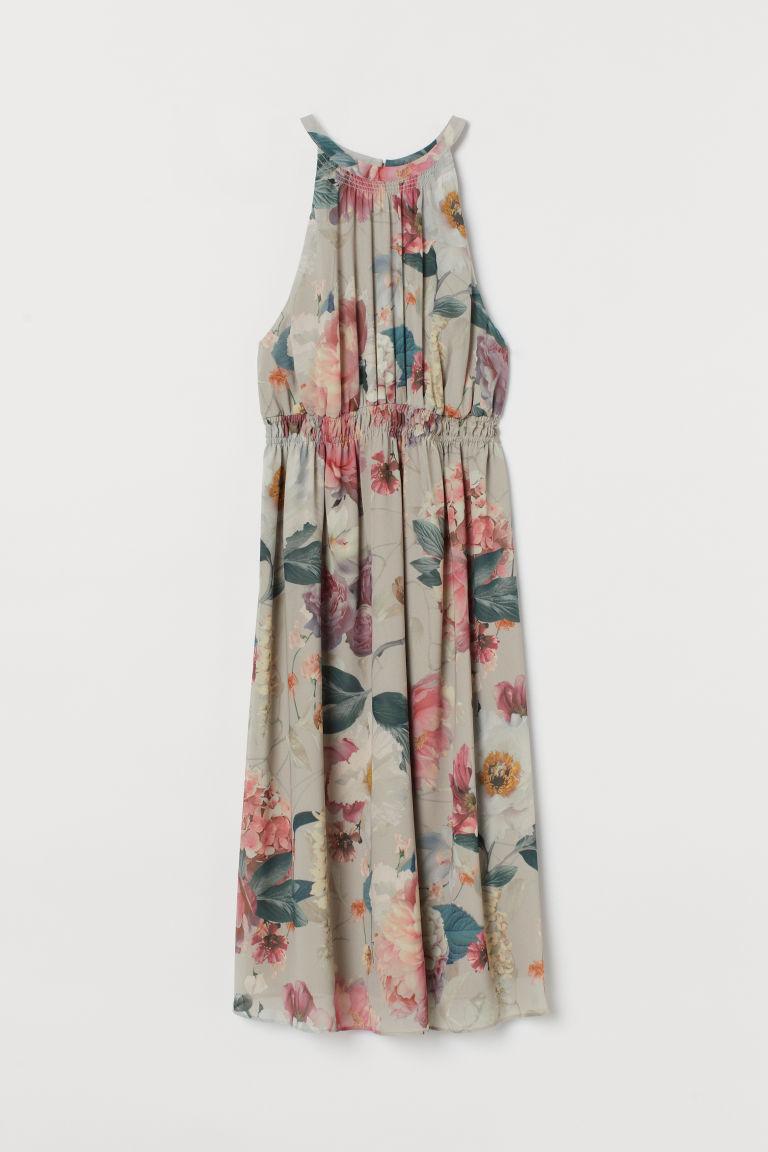 H & M - MAMA 雪紡洋裝 - 米黃色