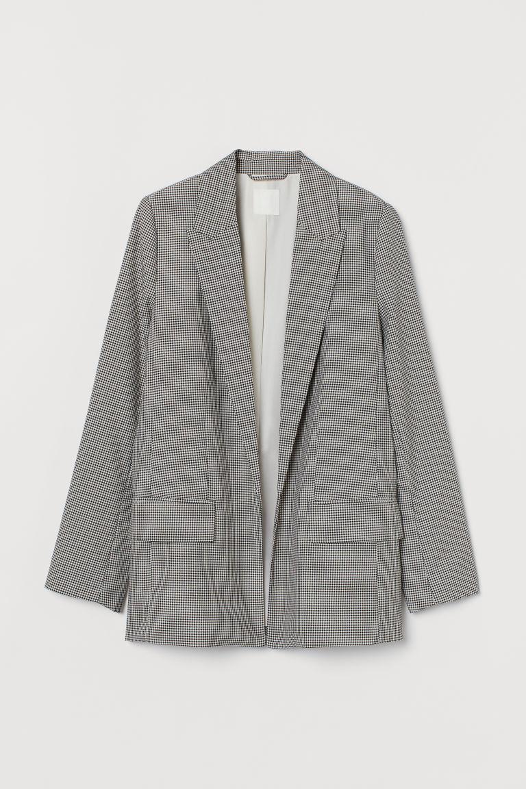 H & M - 長版外套 - 黑色