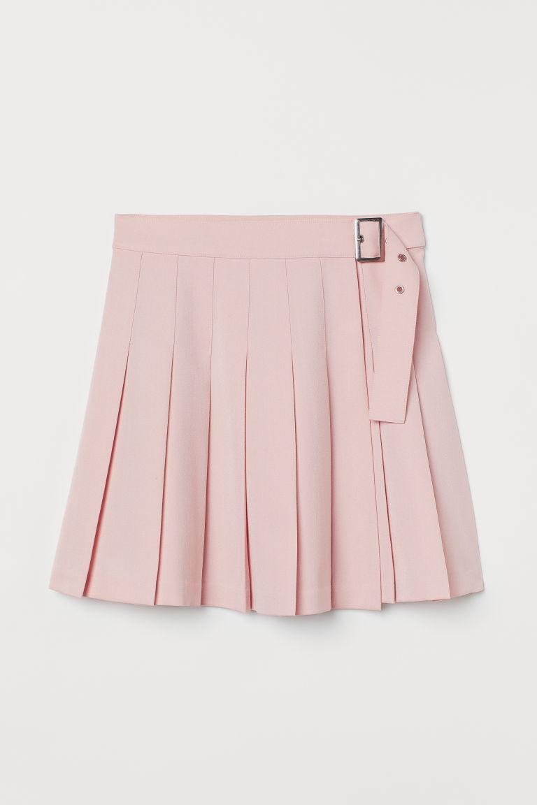 H & M - 百褶裙 - 粉紅色