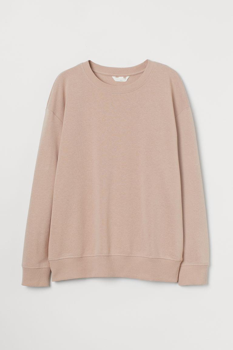 H & M - MAMA 運動衫 - 米黃色
