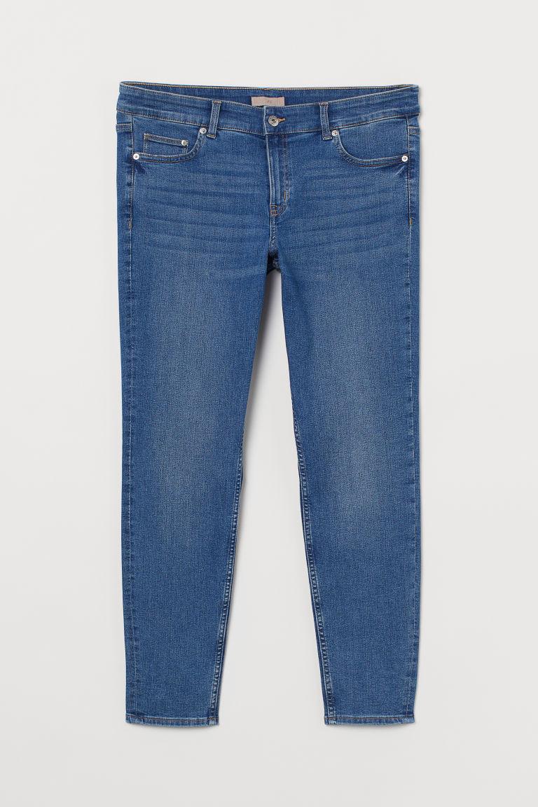 H & M - H & M+ 窄管中腰牛仔褲 - 藍色