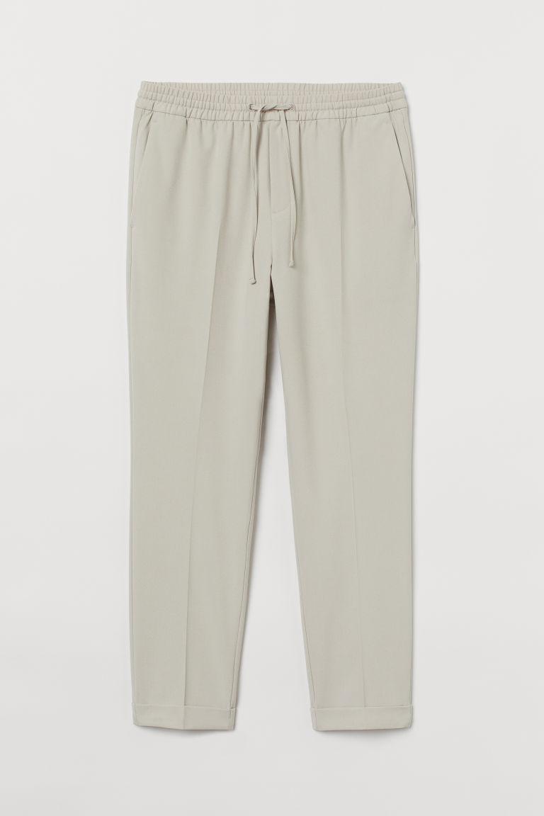 H & M - 貼身慢跑褲 - 褐色
