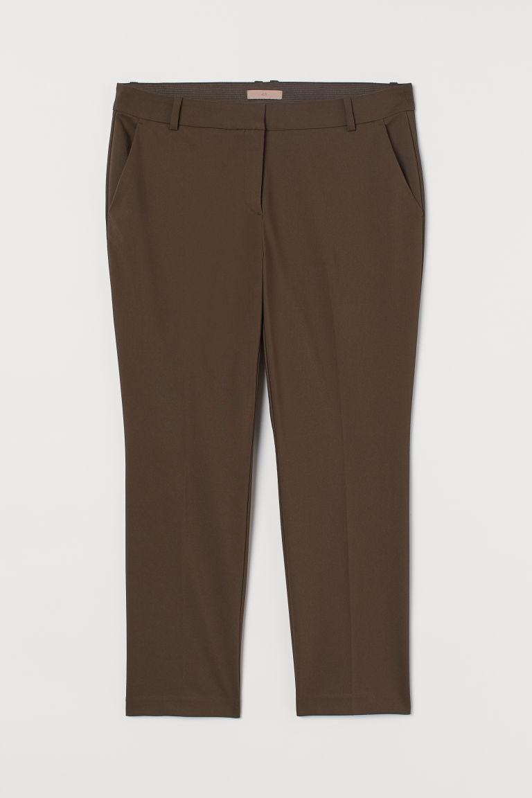 H & M - H & M+ 煙管褲 - 綠色