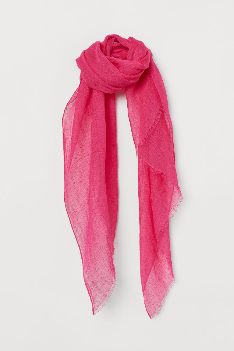 H & M - 亞麻圍巾 - 粉紅色