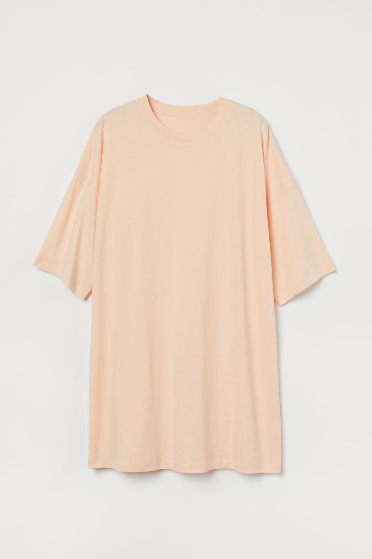 H & M - 棉質連身睡裙 - 橙色