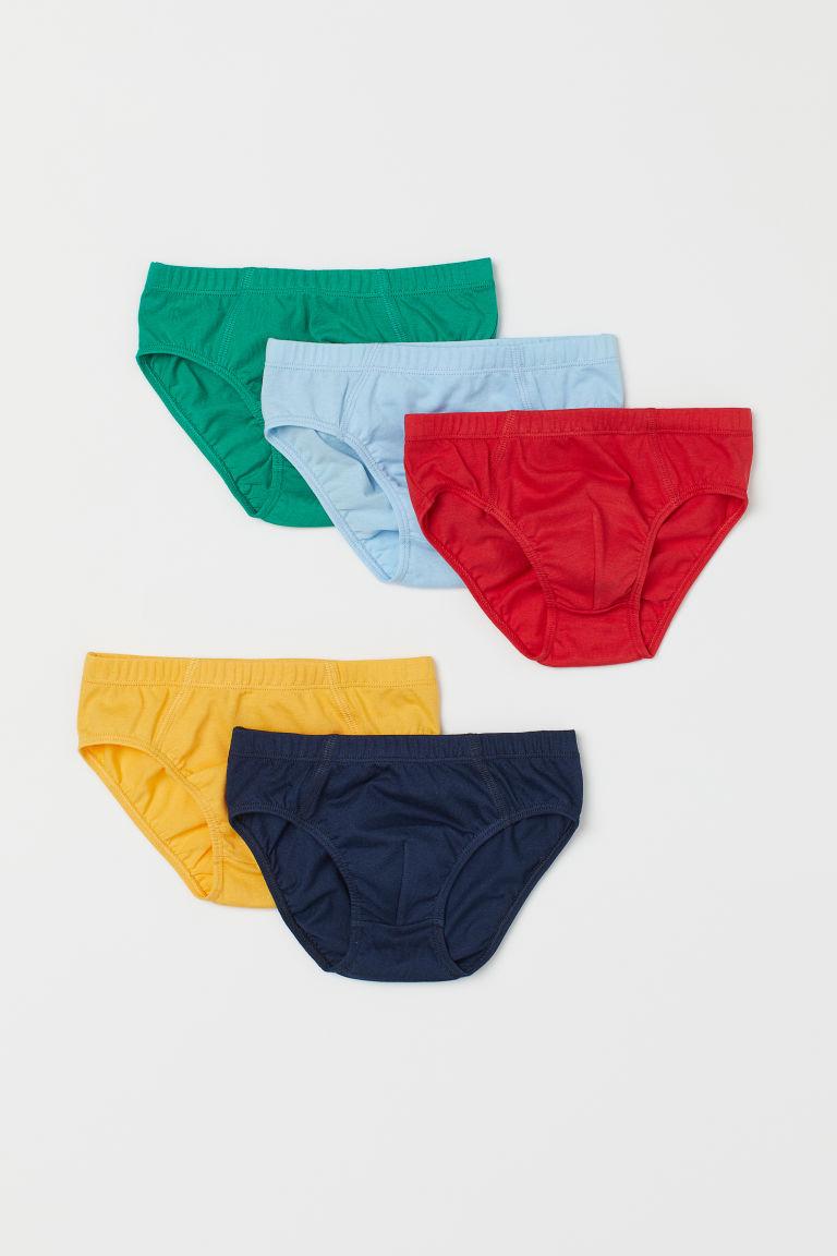 H & M - 5件入男孩短內褲 - 紅色