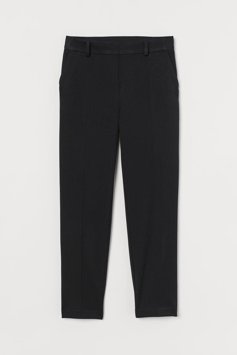 H & M - 鬆緊式煙管褲 - 黑色