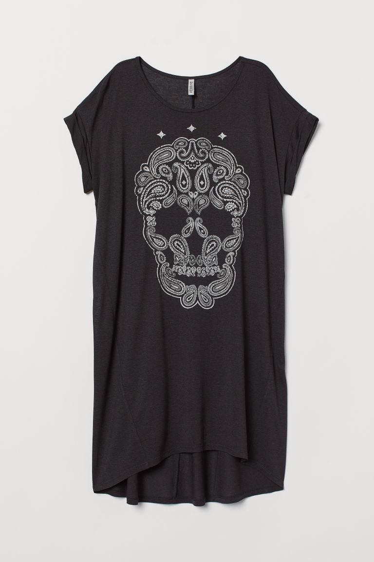 robe t shirt noir motif cachemire h m ca. Black Bedroom Furniture Sets. Home Design Ideas