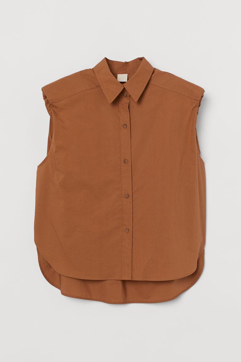 H & M - 無袖襯衫 - 米黃色