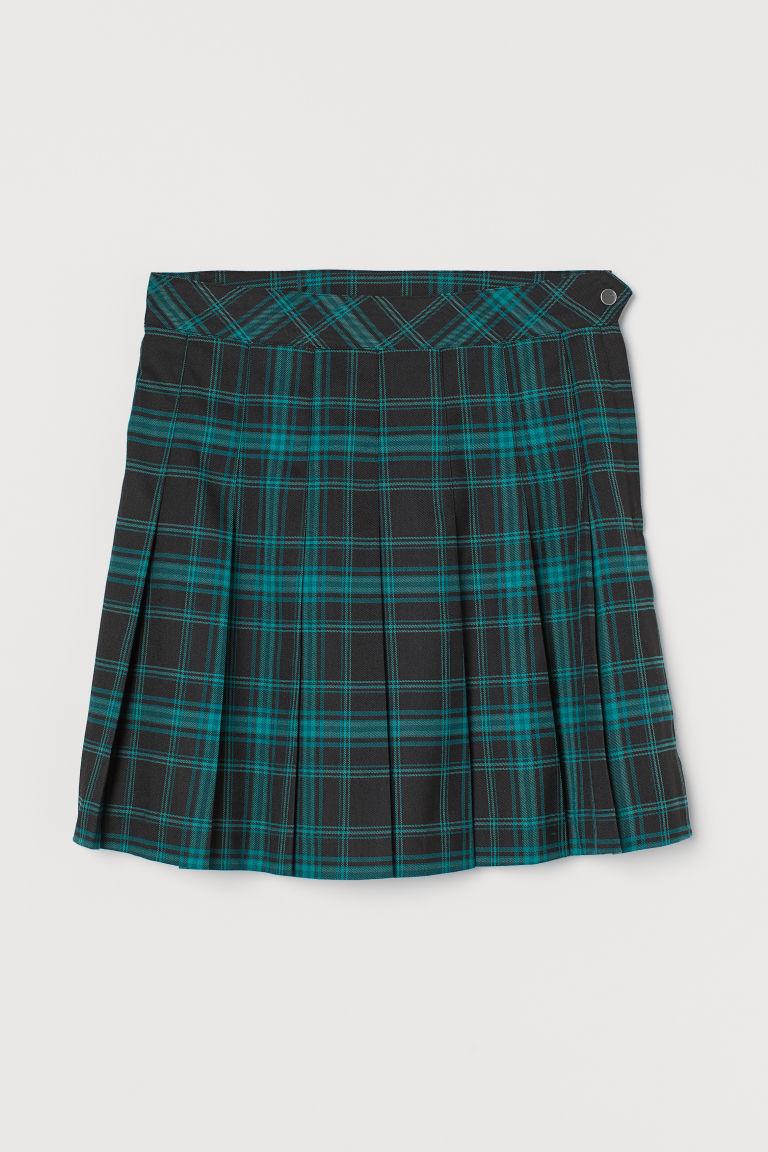 H & M - 百褶裙 - 綠色