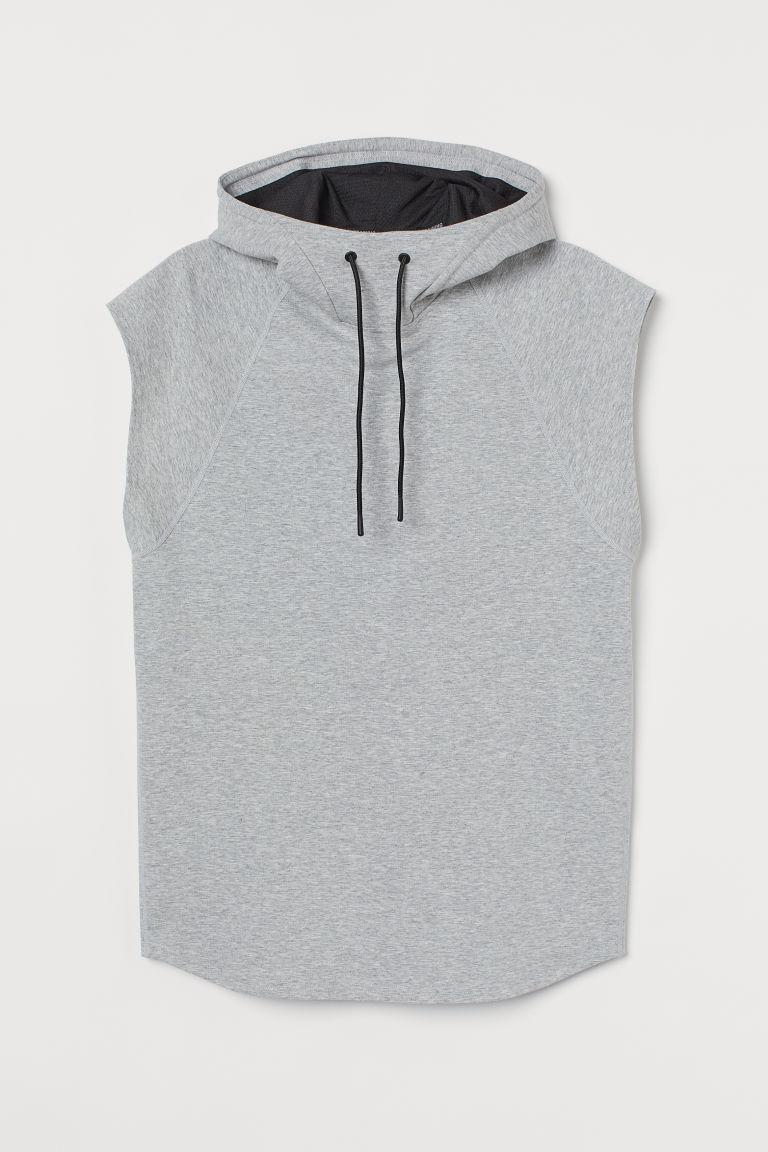 H & M - 休閒剪裁運動連帽上衣 - 灰色