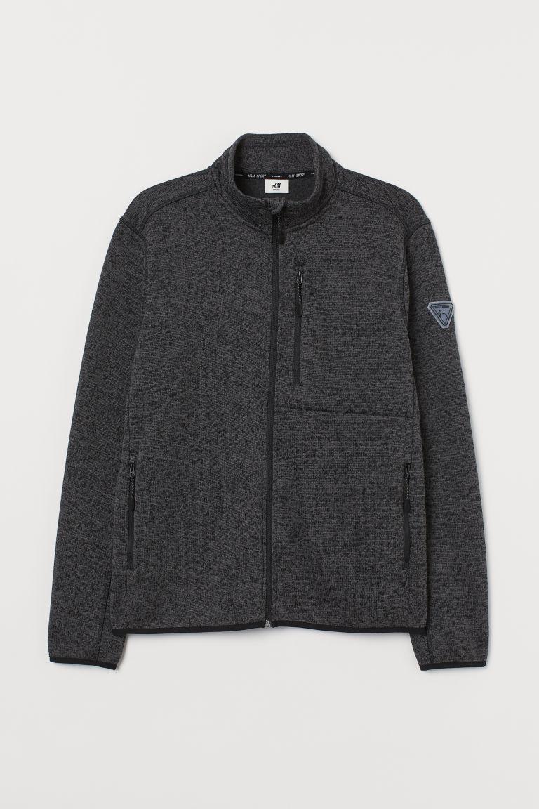 H & M - 絨毛外套 - 黑色