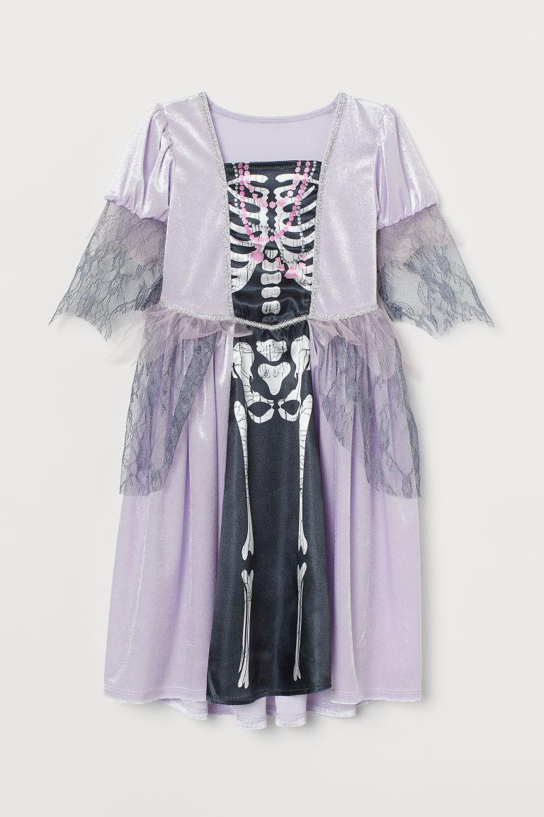 H & M - 絲絨化裝舞會道具服 - 紫色