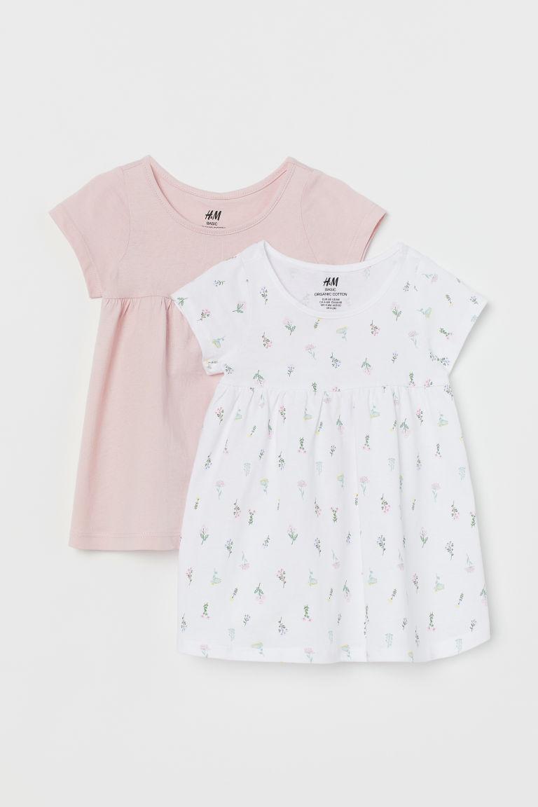H & M - 2件入棉質洋裝 - 白色