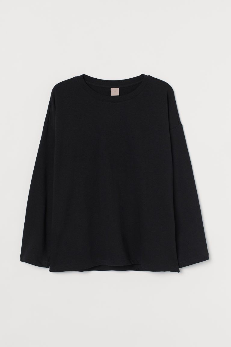 H & M - H & M+ 長袖上衣 - 黑色