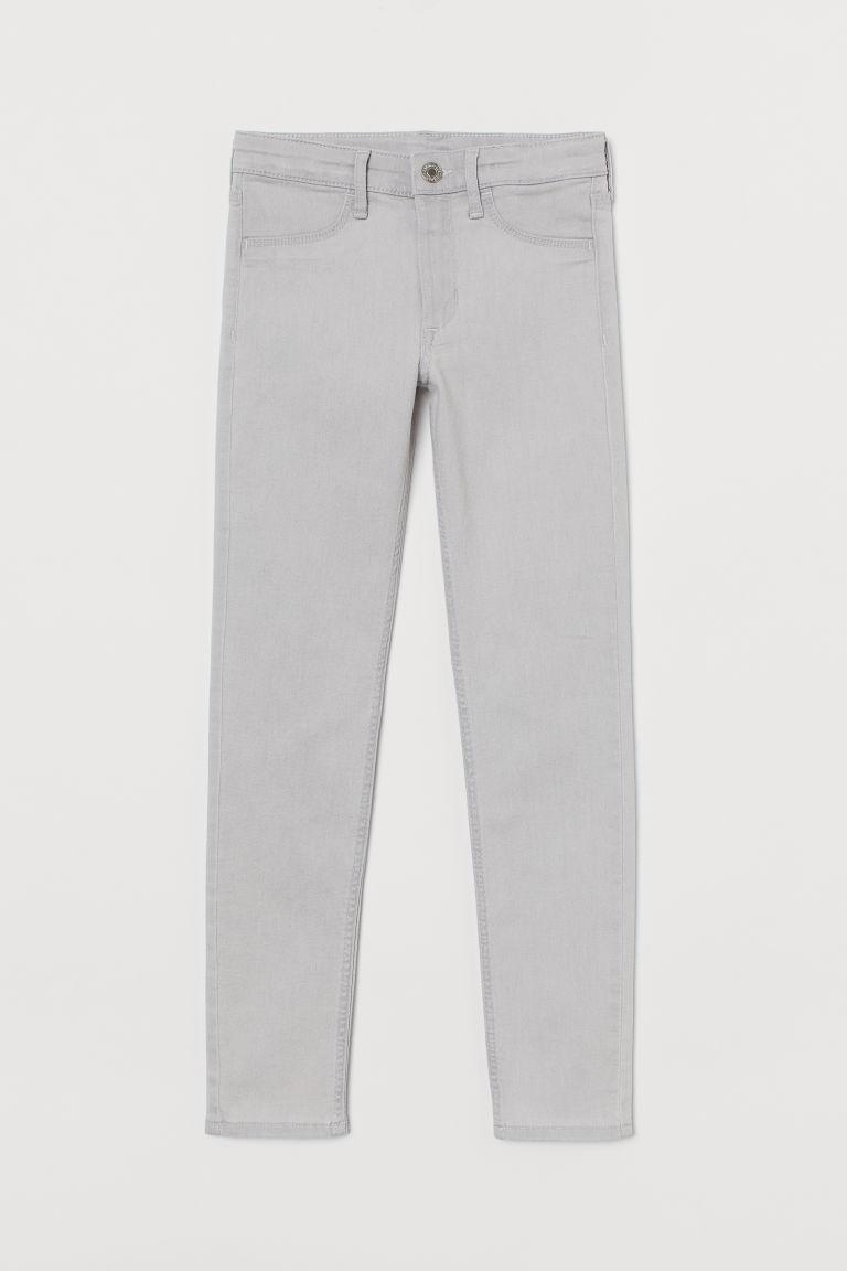H & M - 窄管牛仔褲 - 灰色
