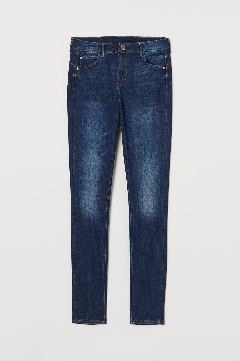 H & M - 提臀牛仔內搭褲 - 藍色