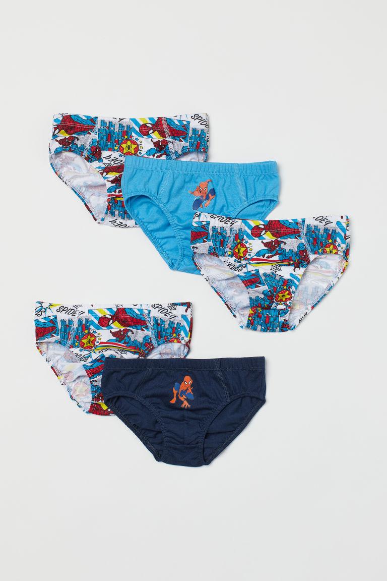H & M - 5件入圖案男孩短內褲 - 藍色