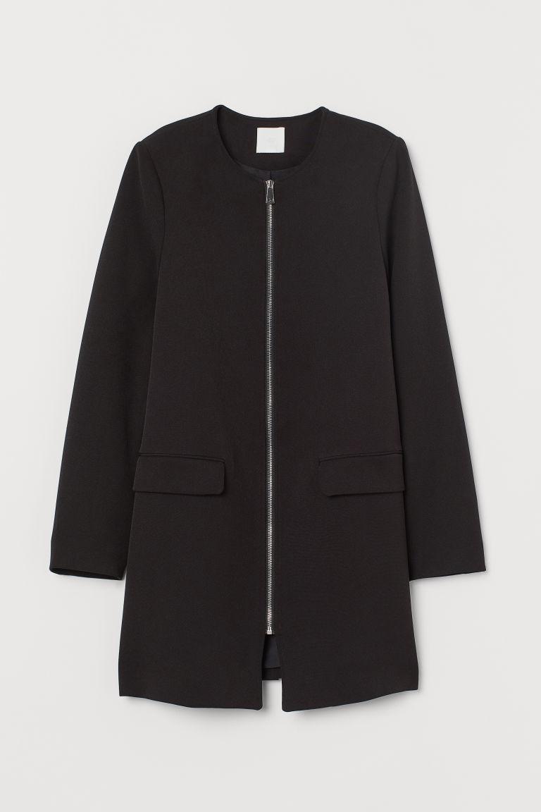H & M - 短大衣 - 黑色