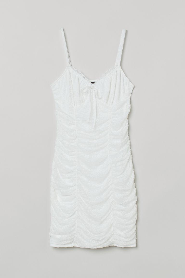 H & M - 垂墜感洋裝 - 白色