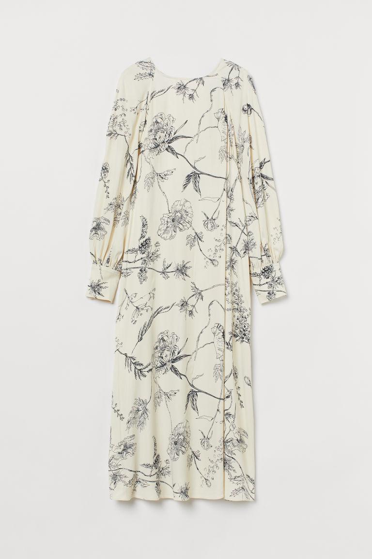 H & M - 後排扣洋裝 - 白色
