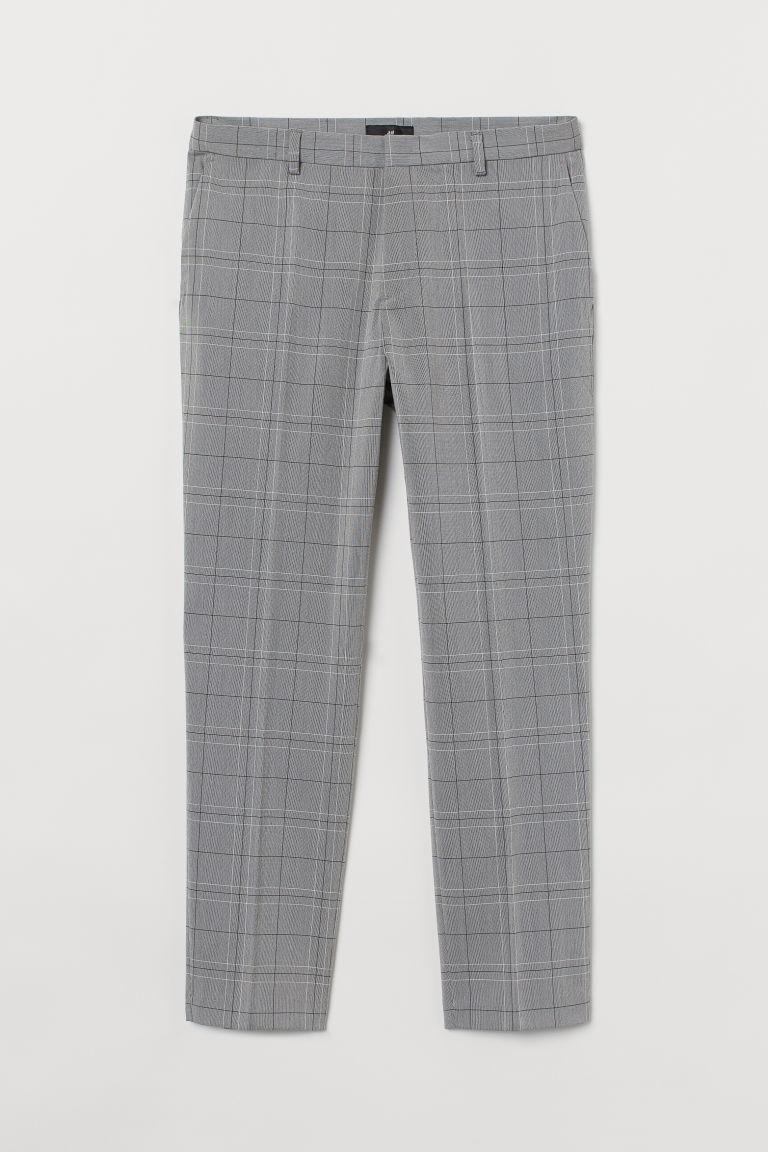 H & M - 貼身煙管褲 - 灰色