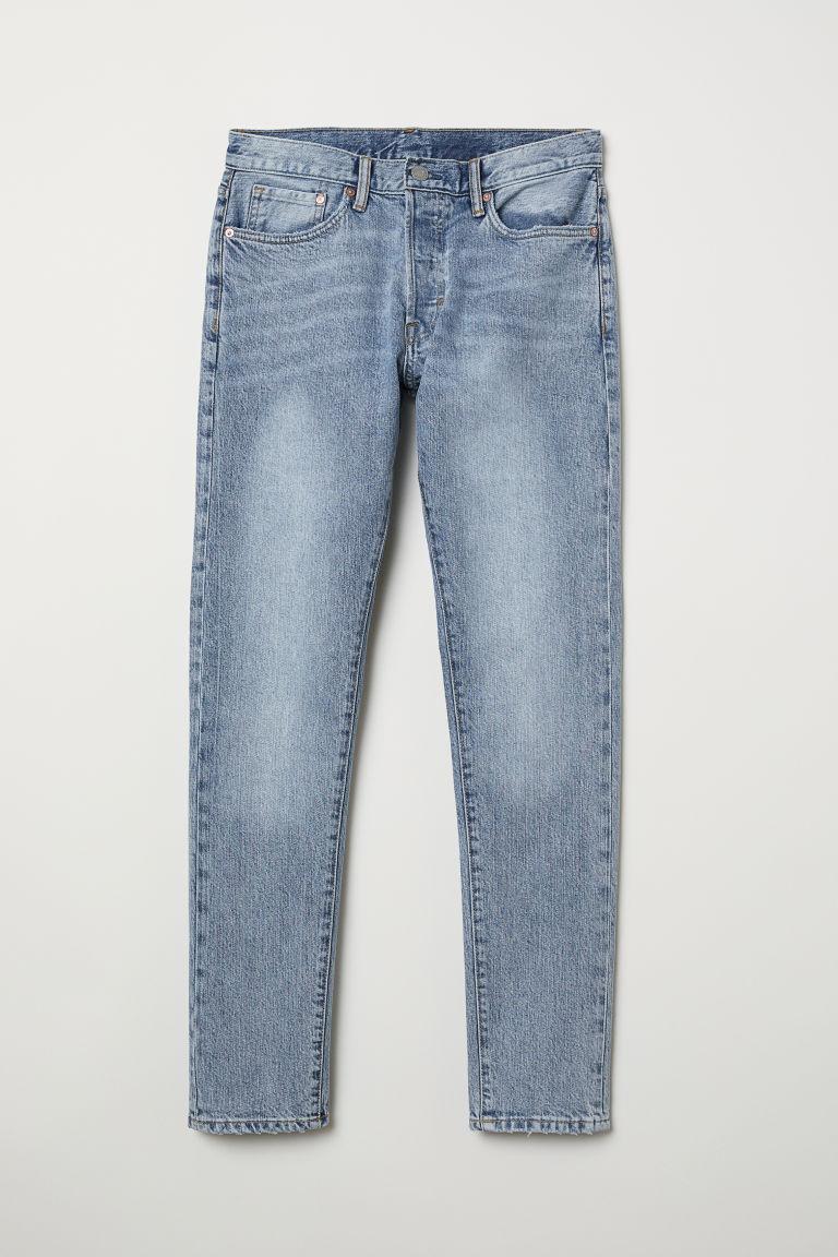 H & M - Slim Straight Jeans - Blå