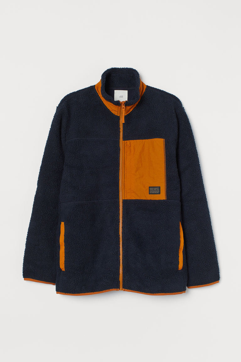 H & M - 仿綿羊外套 - 藍色