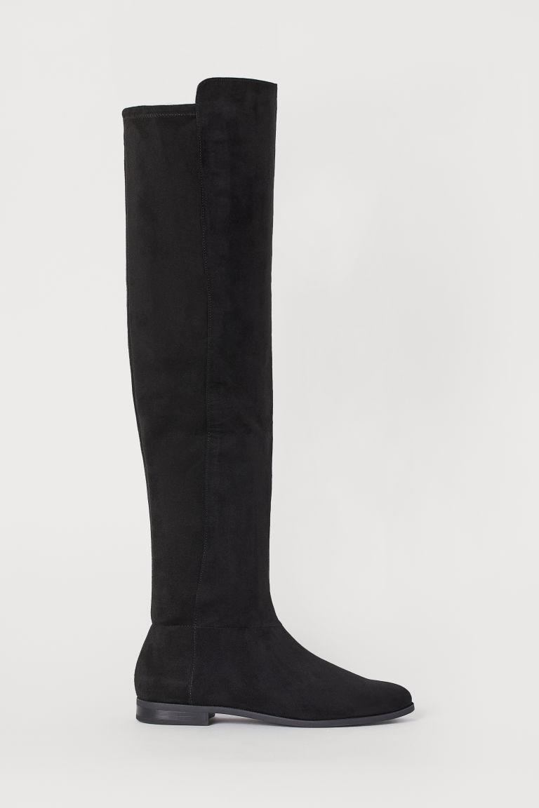 H & M - 及膝靴 - 黑色