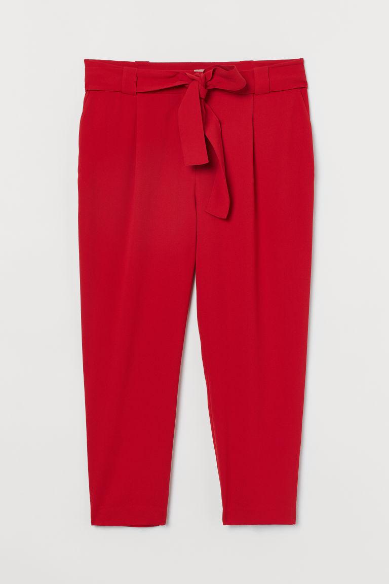 H & M - H & M+ 煙管褲 - 紅色