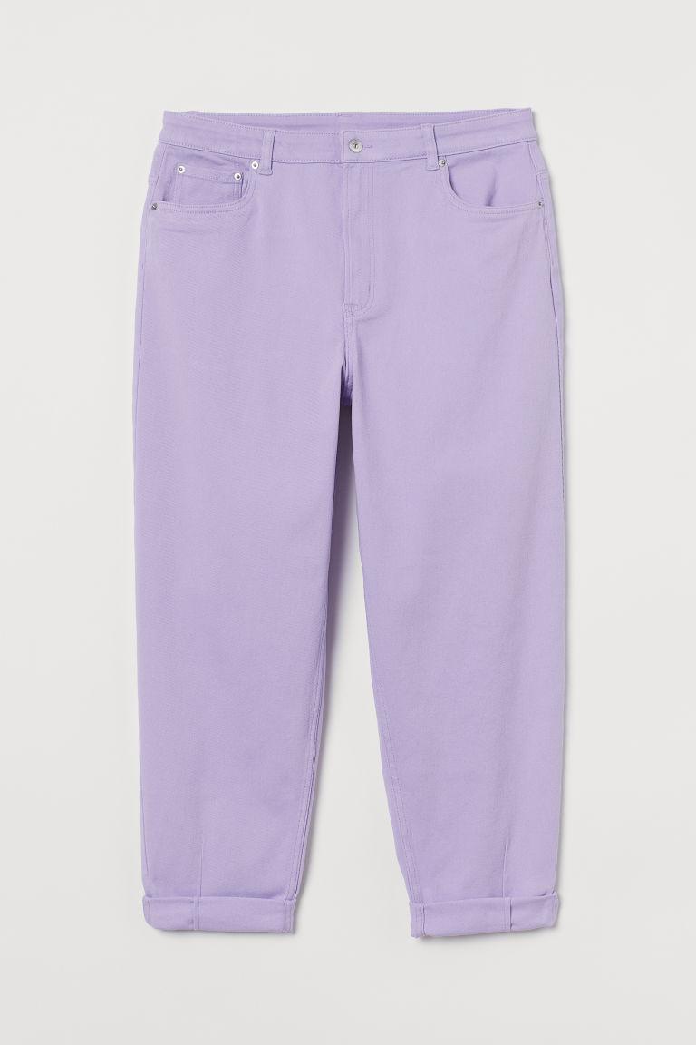 H & M - H & M+ 老媽寬鬆長褲 - 紫色