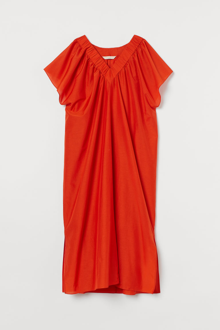 H & M - Kaftan i silkesmix - Orange