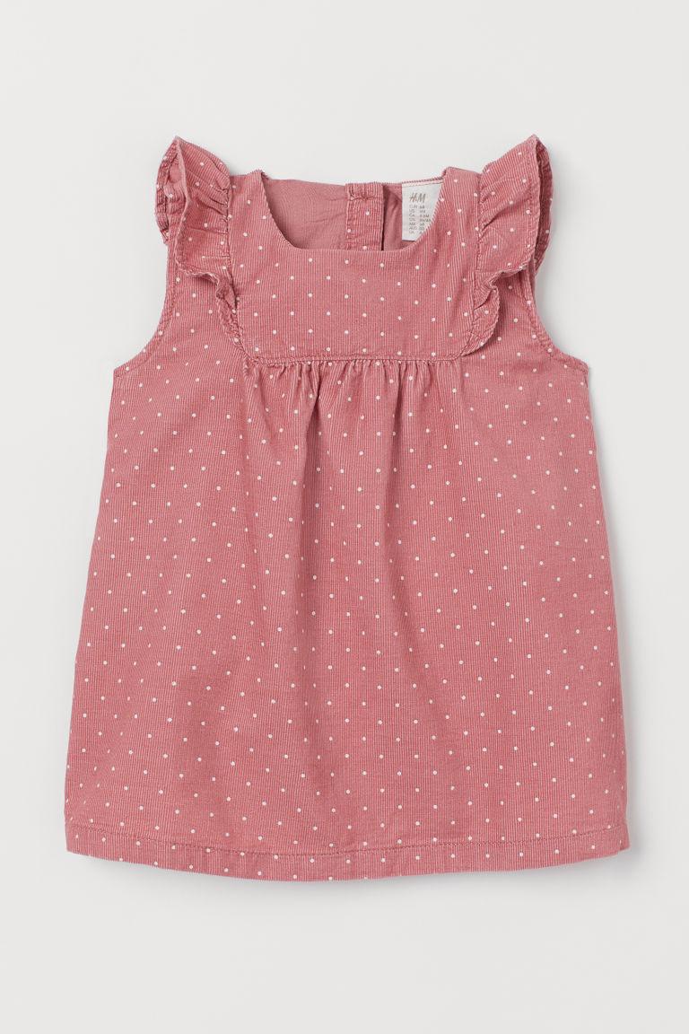 H & M - 荷葉邊洋裝 - 粉紅色