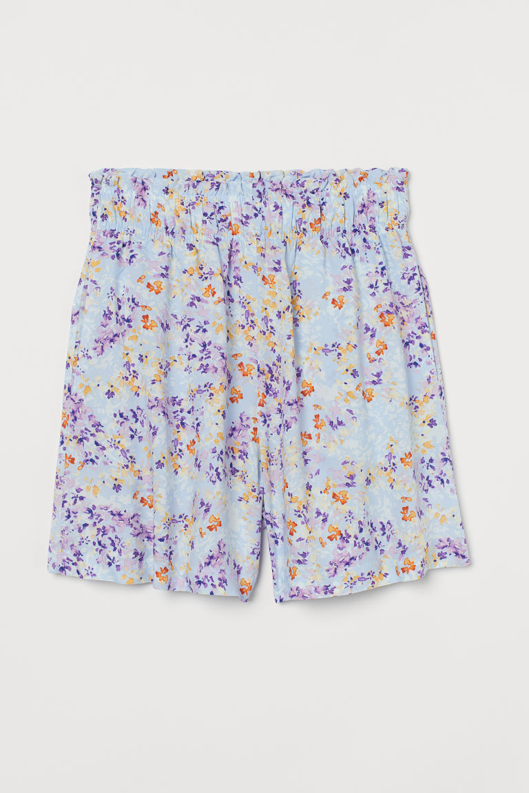 H & M - 高腰短褲 - 藍色