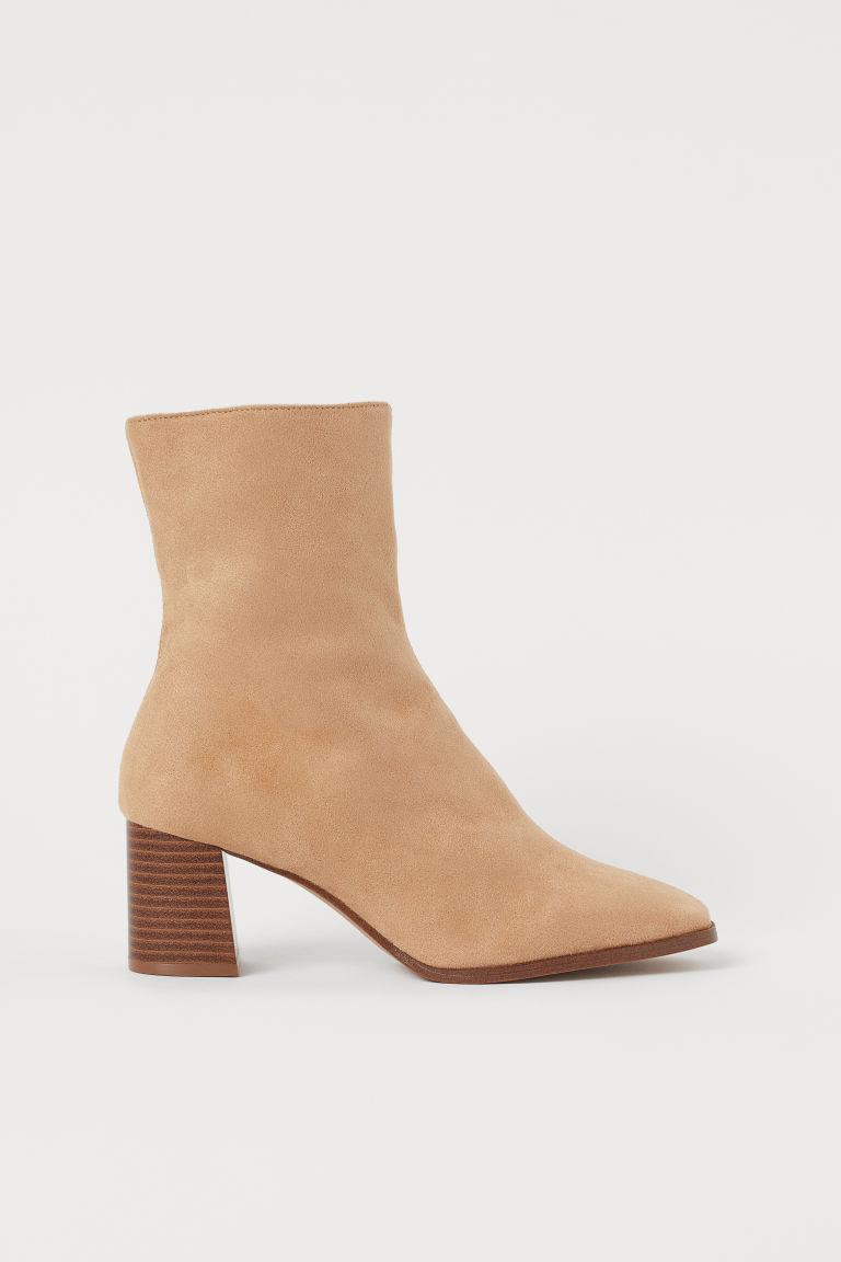 H & M - 踝靴 - 米黃色