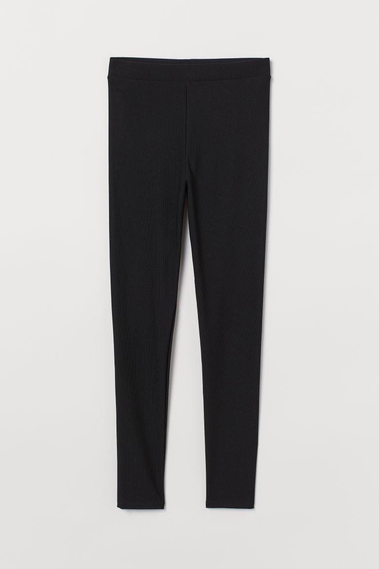 H & M - 高腰內搭褲 - 黑色
